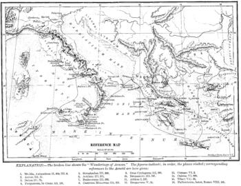 Wanderings of Aeneas Map