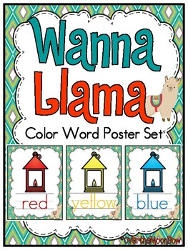 Wanna Llama | Color Words Poster Set