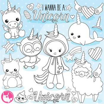 Wannabe unicorn stamps,  commercial use, vector graphics,