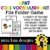 WANT Core Vocabulary Unit for Special Education Teachers