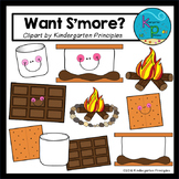 """Want S'more?"" (Camping Clipart Set)"