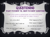 Want to Know vs. Need to Know Questions
