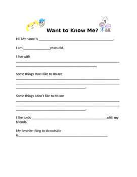 Want to know me