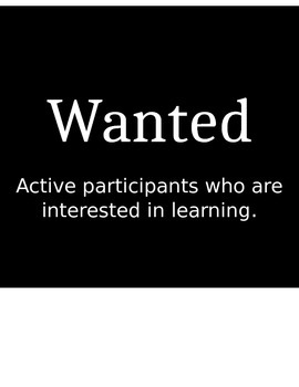 Wanted Ad Template