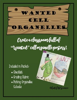 Wanted Cell Organelles Poster