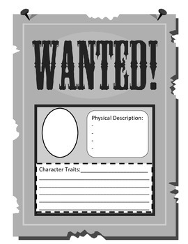 Wanted: Character Trait Activity