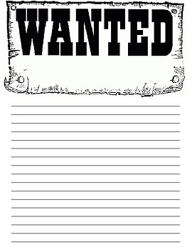 Wanted - Descriptive Writing Poster