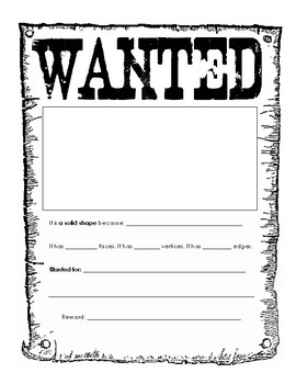 Wanted Geometry Poster