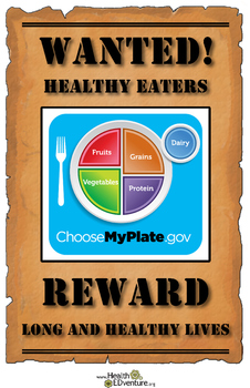 MyPlate and Healthy Eating Poster