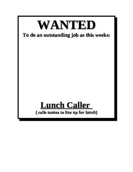 Wanted- Job Chart