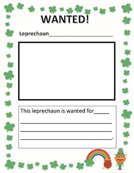 Wanted Leprechaun Poster