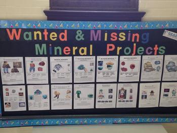 Wanted & Missing Mineral Posters