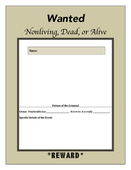 Wanted...Nonliving, Dead, or Alive Poster