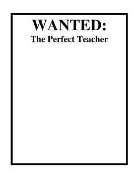 Wanted: Perfect Teacher