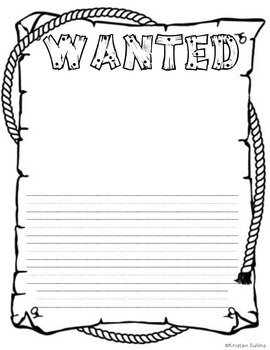 Wanted Posters and Writing Activities