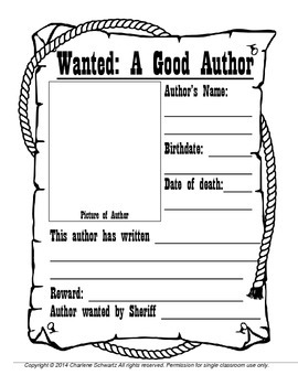 Wanted Poster Author Report