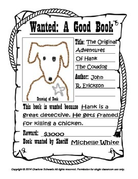 Wanted Poster Book Report