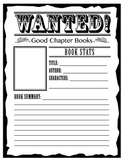 """Wanted"" Poster Book Report Worksheet"