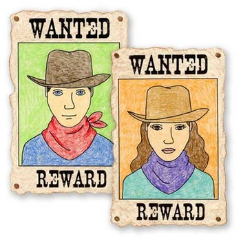 Draw a Wanted Poster Self Portrait