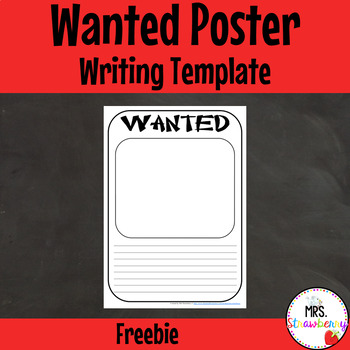 Wanted Poster {Fairytale Writing}