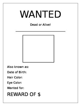 Wanted Poster (Gold Rush Resource)