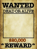 Wanted Poster PDF