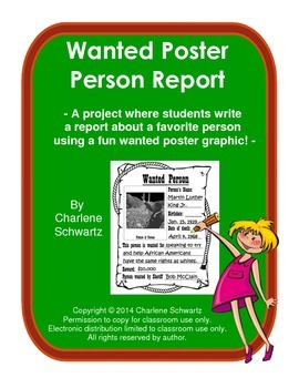 Wanted Poster Person Report
