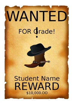 Wanted Poster Set