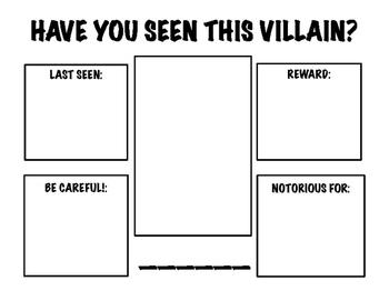 Wanted Poster - Superhero Villain