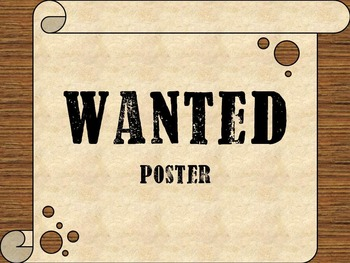 Wanted Poster (Template)