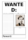 Wanted Poster Template Editable John Wilkes Booth