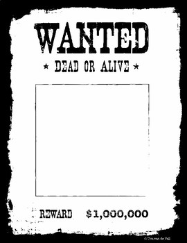 photograph relating to Printable Wanted Poster identified as Ideal Poster Templates