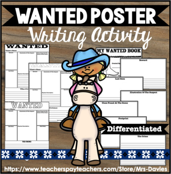 Wanted Poster Western Theme for Fairy Tales