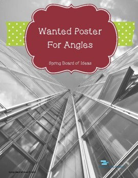 Wanted Poster for Angles