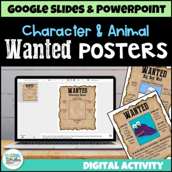 wanted poster for character or animal (powerpoint templates), Powerpoint templates