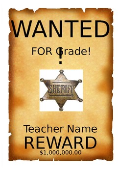 Wanted Poster for Teacher