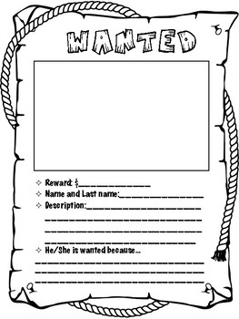 Wanted Poster in Spanish and English