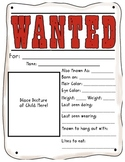 Wanted Poster with Instruction Sheet