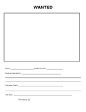 Character Wanted Poster with Rubric