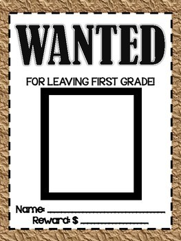 Wanted Posters End of Year Bulletin Board