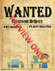 Wanted Posters For Your Classroom