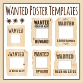 Wanted Posters Templates Clip Art Pack for Commercial Use