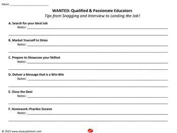 Wanted: Qualified and Passionate Teachers WEBINAR Resource
