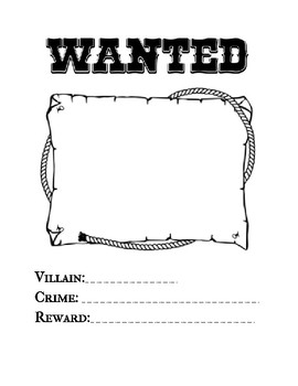 The Three Little Pigs: Wanted Sign