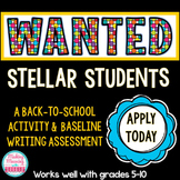 Back to School- Baseline Writing - Application, Cover Letter, Resume