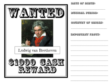 Wanted: The Composers