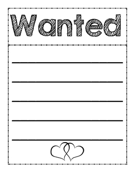 Wanted Valentine Heart