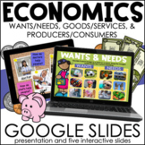 Wants & Needs, Goods & Services, Producers & Consumers | Google Slides