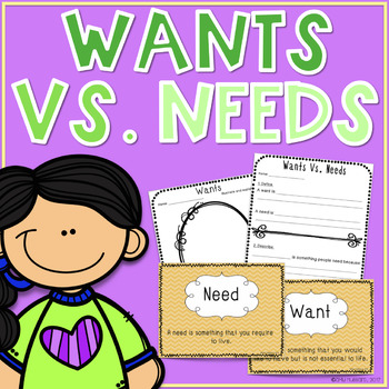 Wants vs Needs- Printables, Posters And Activities