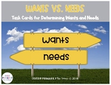 Wants Vs. Needs (Task Cards for Determining Wants and Needs )
